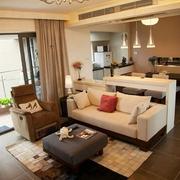 简约时尚风住宅欣赏客厅吊顶设计