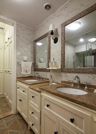 时尚家居 美式卫生间浴室柜效果图