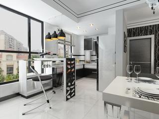白色现代116平住宅欣赏厨房