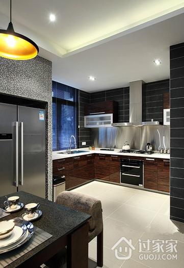 低调奢华 时尚厨房橱柜装修效果图