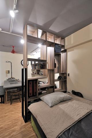 35平现代工业风一居欣赏卧室