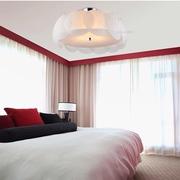 温馨卧室窗帘装饰效果图 时尚现代风