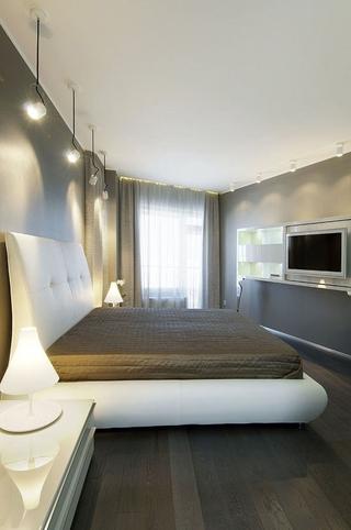 现代中性色调住宅欣赏卧室吊顶