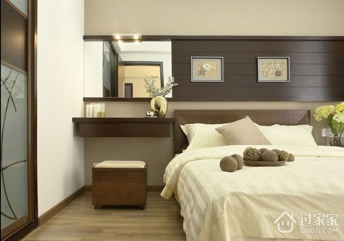 简约三居室样板房案例欣赏卧室梳妆台