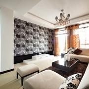 现代风格装修设计客厅背景墙