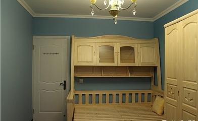 67平田园风格两居欣赏卧室
