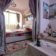 简单温馨两口之家 田园卧室窗帘效果图