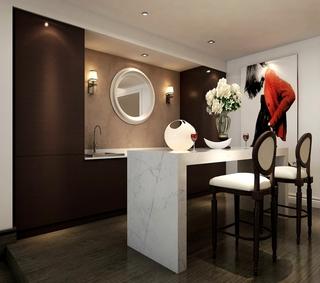 奢华新中式别墅欣赏厨房