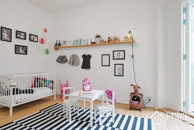 白色北欧两居案例设计欣赏儿童房照片墙