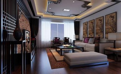 沉稳雅致中式住宅欣赏客厅