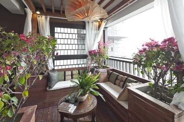 东南亚风格住宅阳台设计