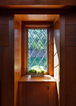 美式木质小飘窗