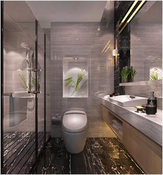 时尚新中式卫生间设计效果图