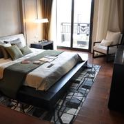 中式简约房屋卧室装修设计效果图