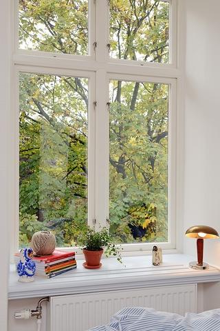 36平白色宜家住宅欣赏飘窗