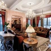 新古典别墅效果图客厅