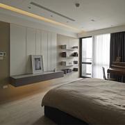 现代风三居室设计欣赏卧室背景墙