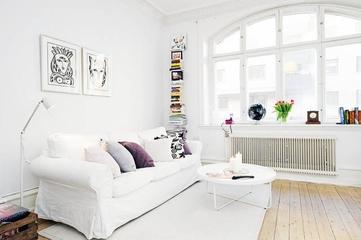 64平白色宜家公寓欣赏
