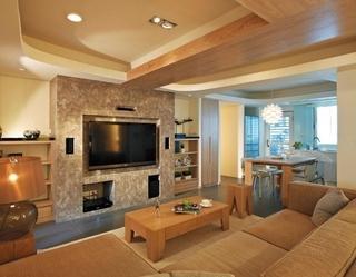 86平日式风格住宅欣赏客厅设计