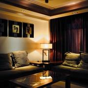 中式客厅一角效果图
