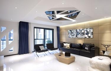 现代风格复式楼客厅效果图设计