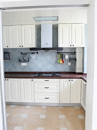 91平蓝色田园风住宅欣赏厨房