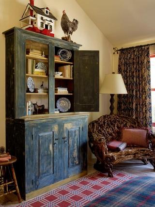 美式田园风格欣赏客厅橱柜
