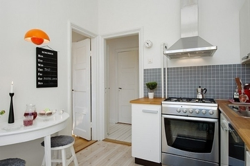 白色北欧两居室住宅欣赏餐厅餐桌