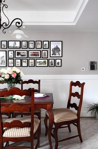 92平三居室美式家居餐厅照片墙