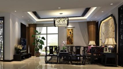 中式雅居三居室欣赏