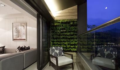 79平米简约风格效果图欣赏阳台