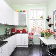 大胆用色的北欧一居室欣赏厨房