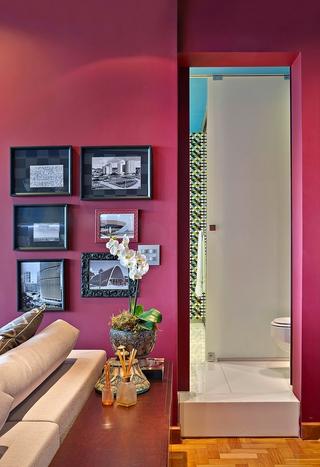 现代舒适彩色公寓欣赏卧室局部
