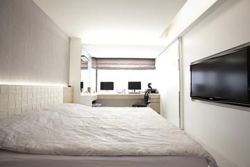 120平三室两厅住宅欣赏卧室设计