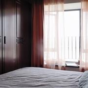 飘窗窗帘效果图