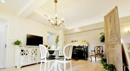 135平欧式奢华公寓欣赏餐厅