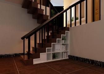 新中式风格住宅案例欣赏楼梯
