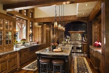 美式别墅装饰效果套图赏析厨房