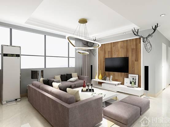 【黑科技】豪方天际85㎡三居室现代风格装修 720°全屋漫游无死角体验