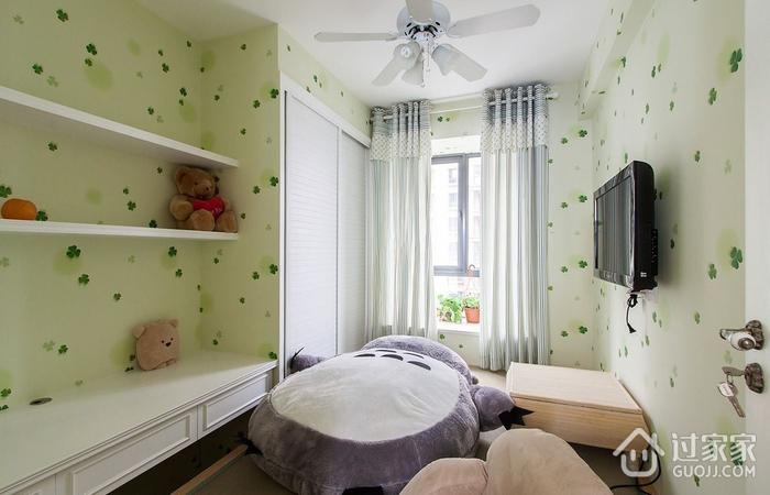 清新田园风 卧室窗帘装修效果图