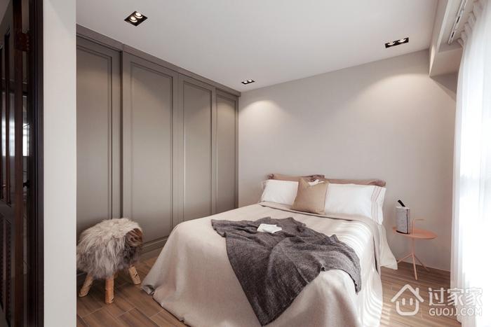 78平现代三居室欣赏卧室衣柜设计