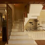 东南亚风格效果图楼梯效果