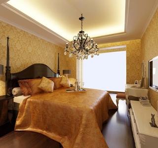简欧风采三居室欣赏卧室灯饰