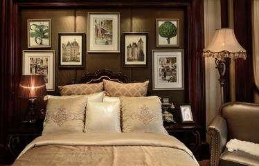 卧室背景墙装饰效果图 浓郁美式风情