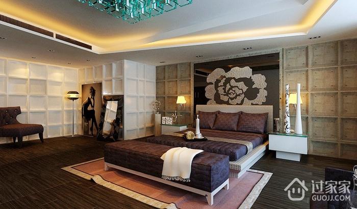 简约风三居室案例欣赏卧室吊顶
