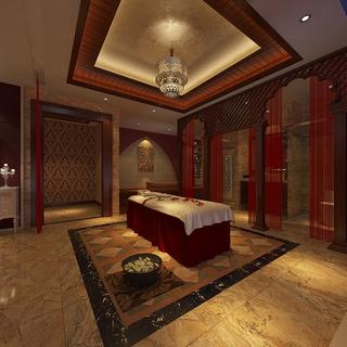 东南亚风情住宅欣赏卧室效果图