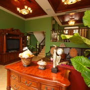 泰式东南亚客厅陈设