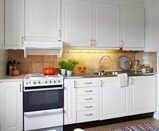 白色北欧住宅案例欣赏厨房橱柜