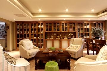 130平奢华新古典欣赏茶室
