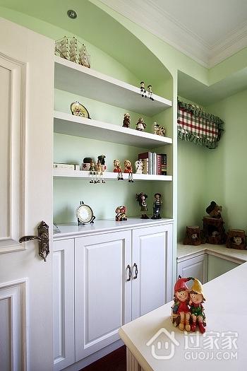 奢华美式三室两厅住宅欣赏书房效果图